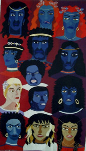 Urian och kvinnorna Urian and females 83x145cm 975g SEK 10 900