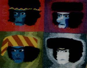 Urians fyra ansikten Urian's four faces 45x37cm 250g SEK 1 500 Kudde och bonad Pillowcase or wallhanging