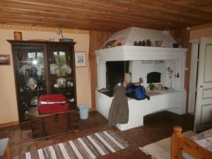 Så här fint bodde vi i ett gammalt 1800-tals kök ombyggt till gästrum